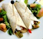 Fajitas de verduras, delicioso plato vegano, bajo en calorías...